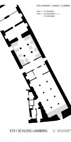 Schloss Lamberg Bestuhlungsvarianten